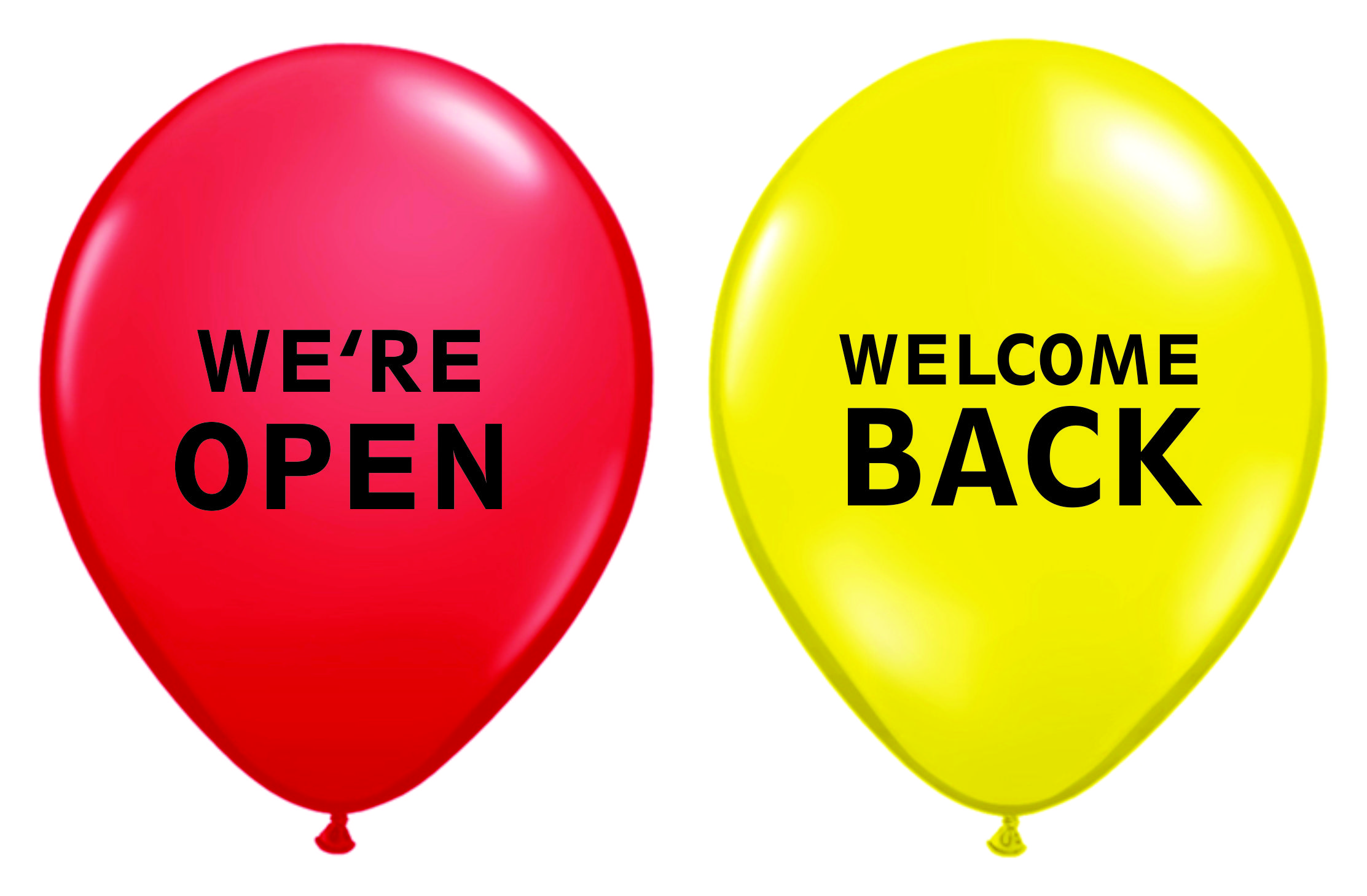 We're Open Welcome Balloons